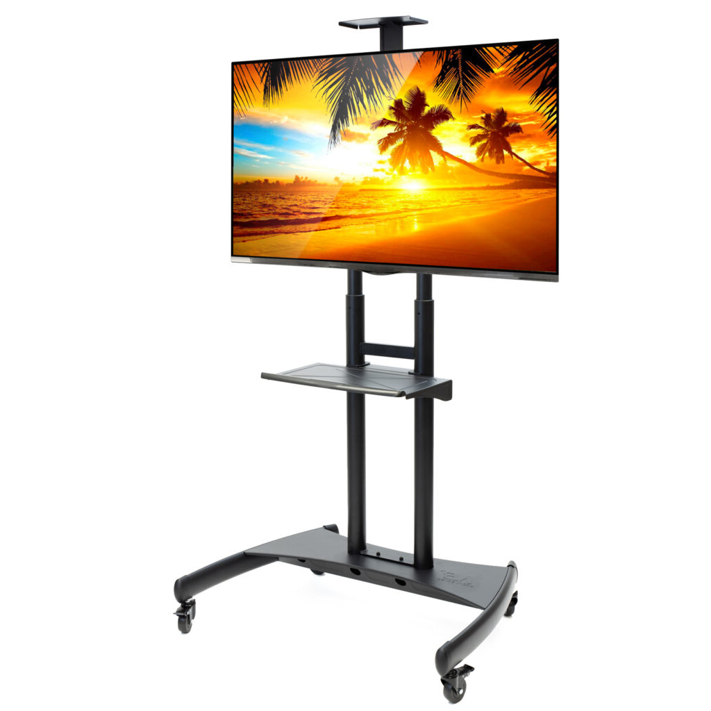 Rolling Tv Stand Mobile Tv Cart For 55″ – 80″ Plasma With Regard To Mount Factory Rolling Tv Stands (View 11 of 20)