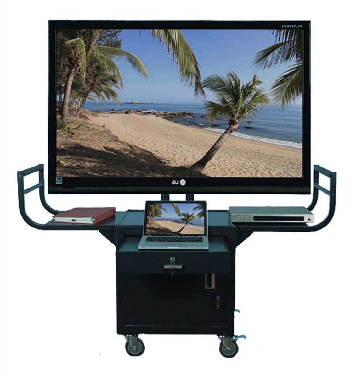Rolling Tv Stand | Television Cart Inside Modern Black Tv Stands On Wheels (View 15 of 20)