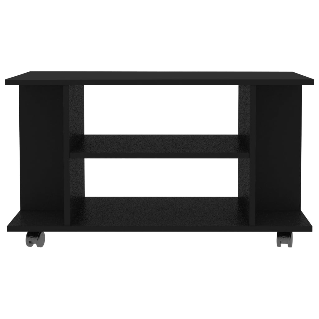 Rolling Tv Stand Unit Cabinet Chipboard 2 Tiers Storage With Fitueyes Rolling Tv Cart For Living Room (View 4 of 20)