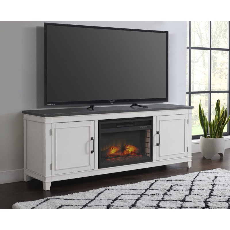 """Rosalind Wheeler Carnes Tv Stand For Tvs Up To 75"""" With Throughout Neilsen Tv Stands For Tvs Up To 50"""" With Fireplace Included (View 15 of 20)"""
