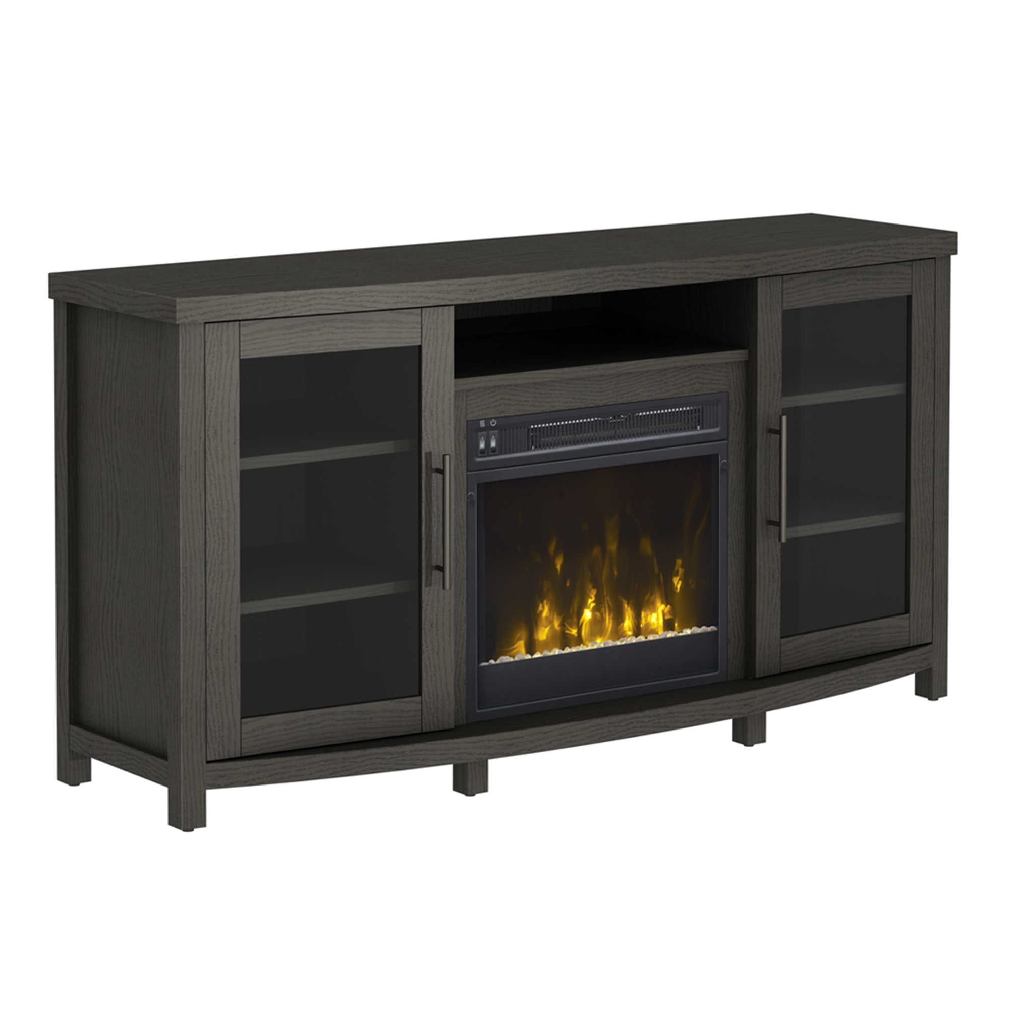 """Rossville Tv Stand For Tvs Up To 60 With Electric Fireplace Pertaining To Margulies Tv Stands For Tvs Up To 60"""" (View 7 of 20)"""