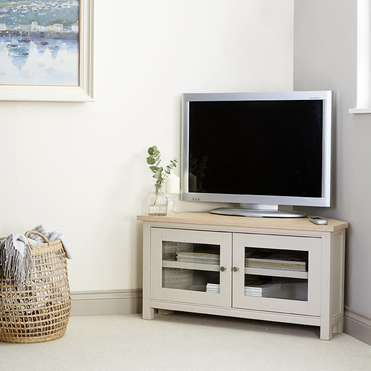 Rushbury Painted Corner Tv Unit Was £449.00 Now £ (View 5 of 20)
