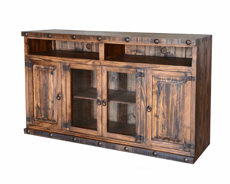 """Rustic 60"""" Tv Stand, Pine Wood 60"""" Tv Stand, Wood Tv Stand Inside Millen Tv Stands For Tvs Up To 60"""" (View 10 of 20)"""