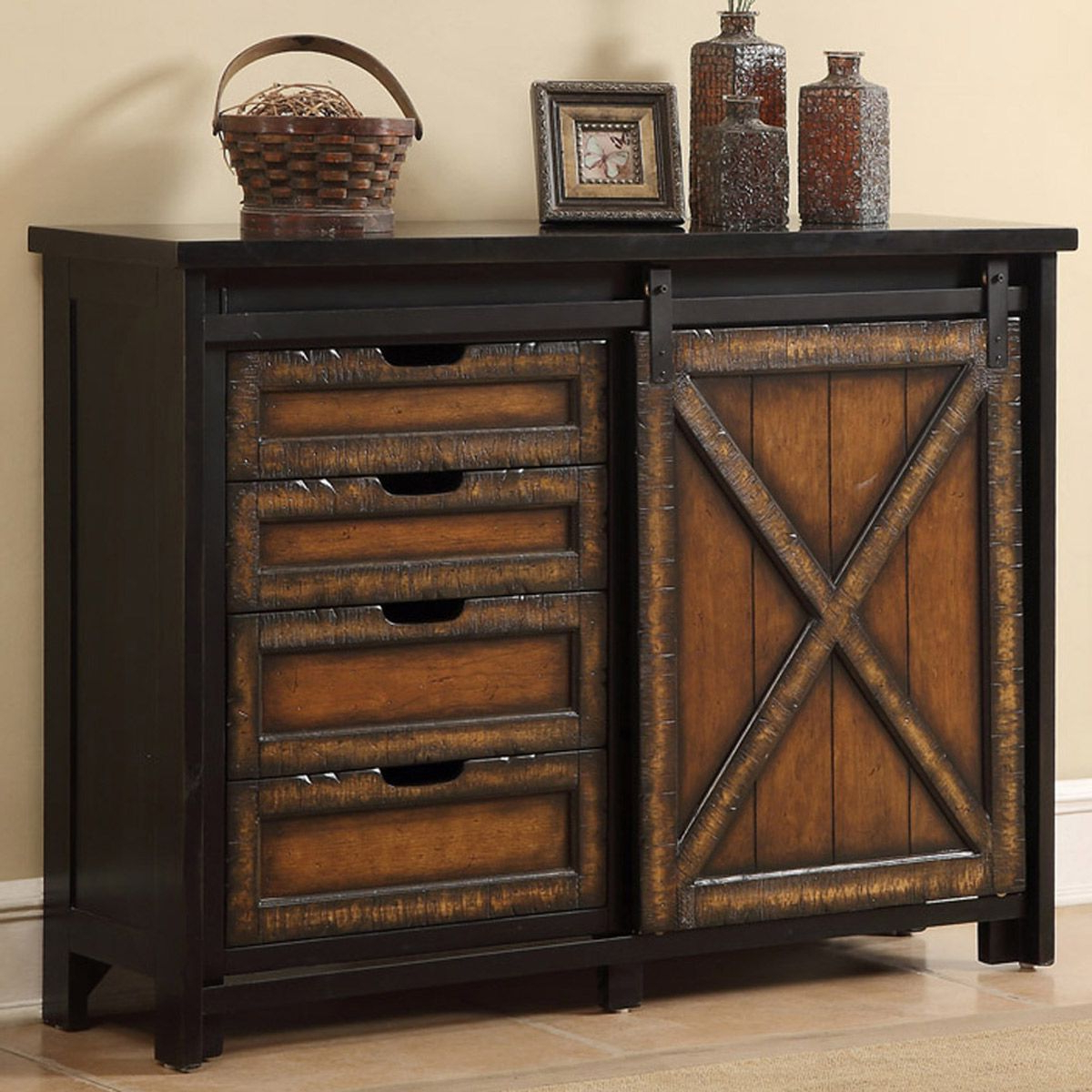 Rustic Tv Stands: Barn Wood Sliding Door Media Cabinet Inside Rustic Grey Tv Stand Media Console Stands For Living Room Bedroom (View 17 of 20)