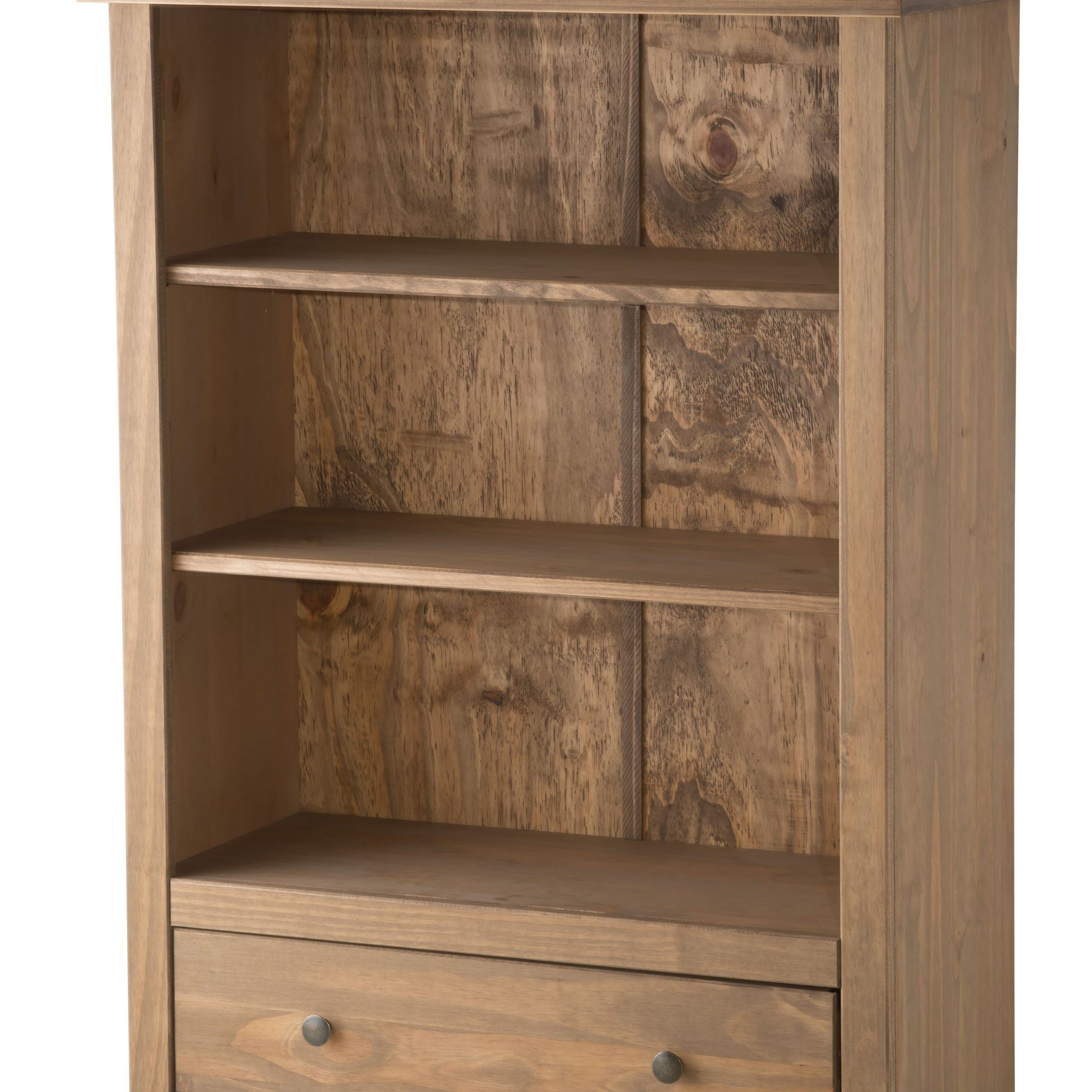 Rustic Wood Santiago 1 Drawer Bookcase – Birlea Furniture Throughout Santiago Tv Stands (View 10 of 20)