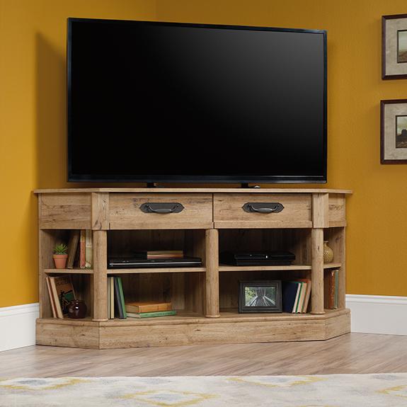 Sauder (420758) Viabella Corner Entertainment Credenza/tv With Regard To Harbor Wide Tv Stands (View 5 of 20)