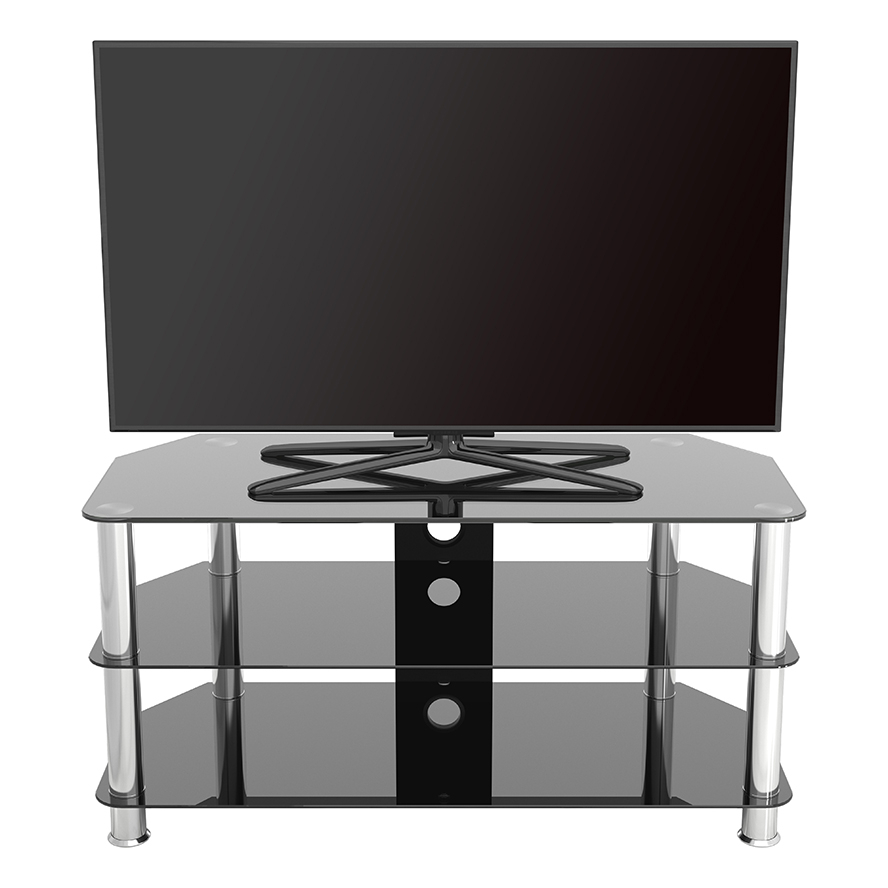Sdc1000cm A: Classic – Corner Glass Tv Stand With Cable Within Tv Stands With Cable Management (View 2 of 20)