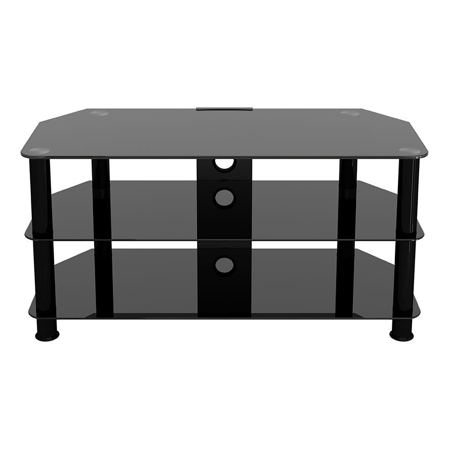Sdc1000cmbb: Classic – Corner Glass Tv Stand With Cable Inside Avf Group Classic Corner Glass Tv Stands (View 12 of 20)