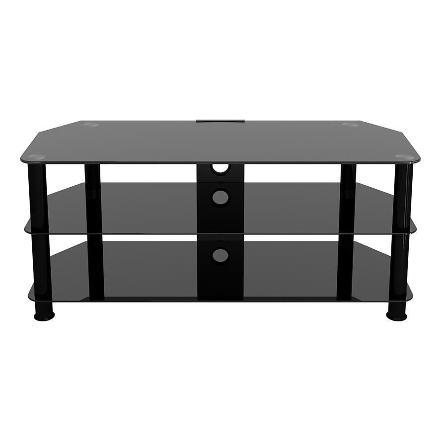 Sdc1140cmbb: Classic – Corner Glass Tv Stand With Cable For Avf Group Classic Corner Glass Tv Stands (View 3 of 20)