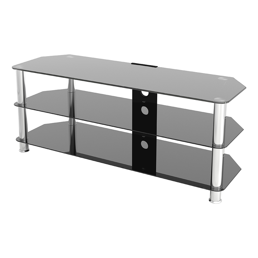 Sdc1250cm A: Classic – Corner Glass Tv Stand With Cable In Tv Stands With Cable Management (View 4 of 20)