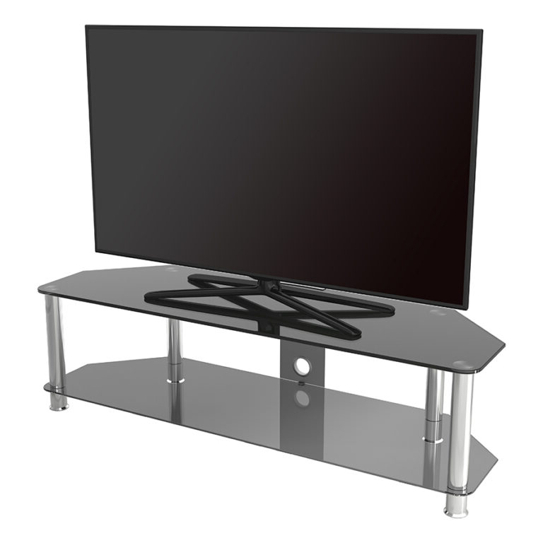 Sdc1400cm: Classic – Corner Glass Tv Stand With Cable For Avf Group Classic Corner Glass Tv Stands (View 18 of 20)