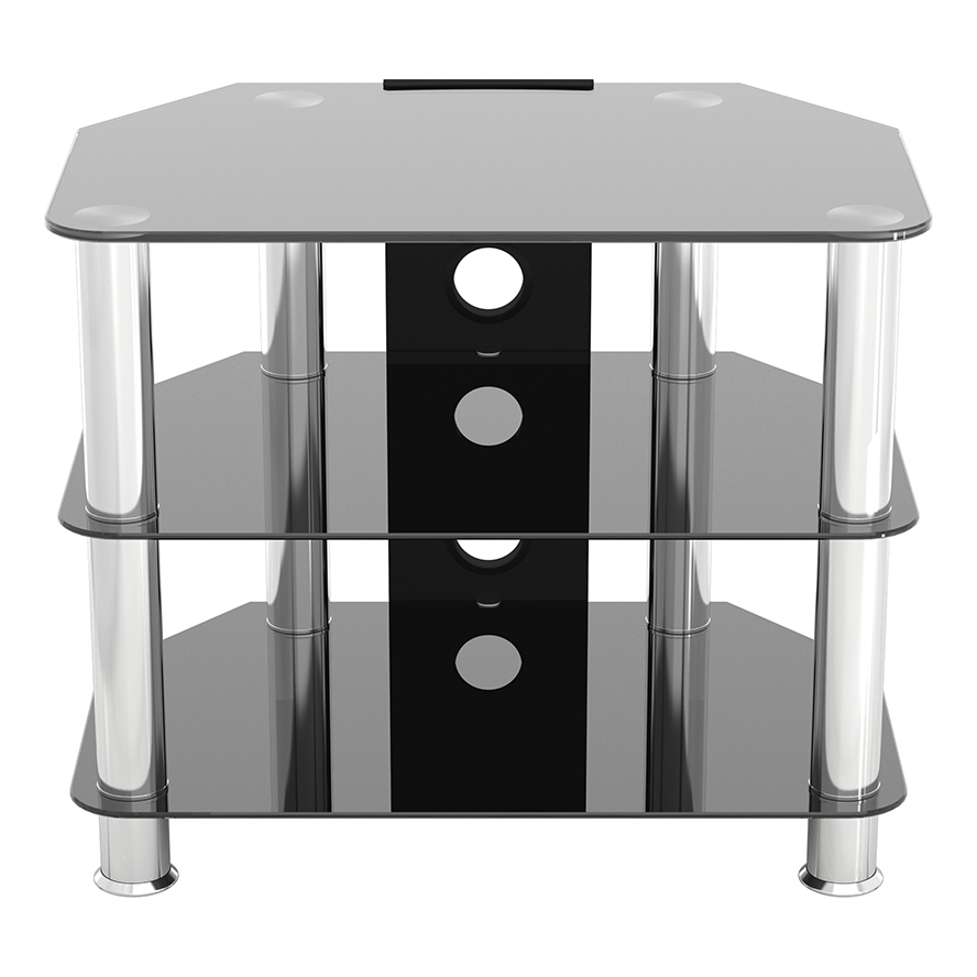 Sdc600cm A: Classic – Corner Glass Tv Stand With Cable For Tv Stands With Cable Management (View 11 of 20)