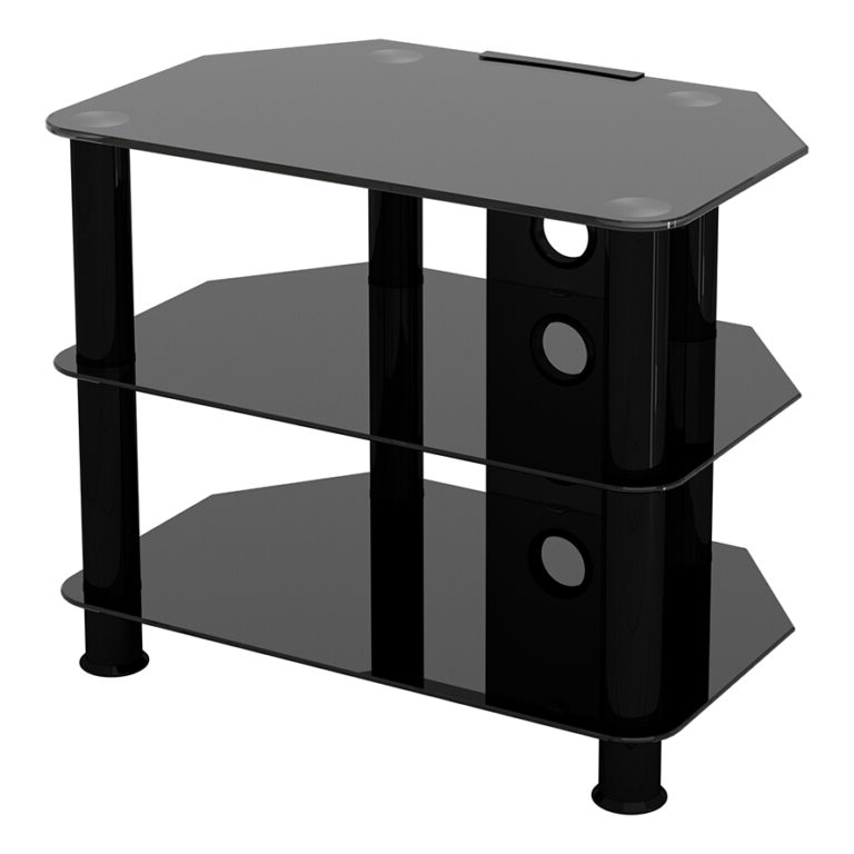 Sdc600cmbb: Classic – Corner Glass Tv Stand With Cable Pertaining To Avf Group Classic Corner Glass Tv Stands (View 11 of 20)