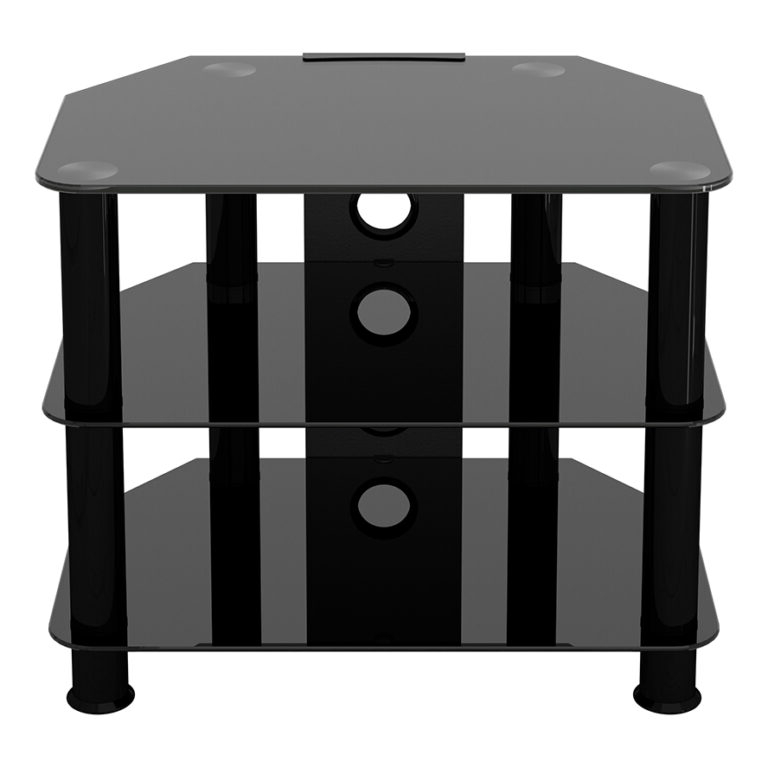 Sdc600cmbb: Classic – Corner Glass Tv Stand With Cable Regarding Avf Group Classic Corner Glass Tv Stands (View 9 of 20)