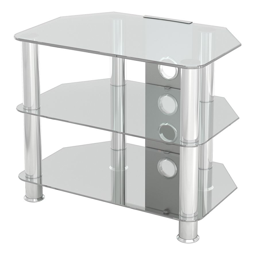 Sdc600cmcc: Classic – Corner Glass Tv Stand With Cable Inside Avf Group Classic Corner Glass Tv Stands (View 8 of 20)