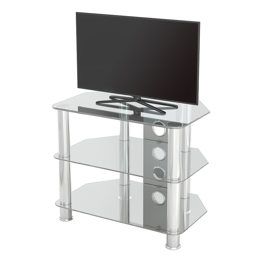 Sdc600cmcc: Classic – Corner Glass Tv Stand With Cable Pertaining To Avf Group Classic Corner Glass Tv Stands (View 13 of 20)
