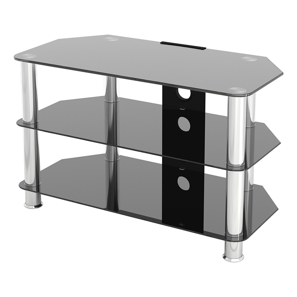 Sdc800cm: Classic – Corner Glass Tv Stand With Cable Regarding Avf Group Classic Corner Glass Tv Stands (View 7 of 20)