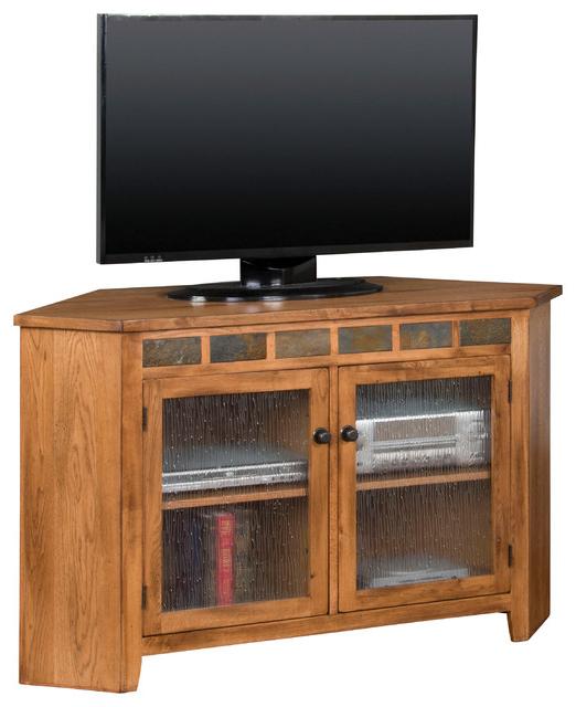 Sedona Corner Tv Console – Craftsman – Entertainment For Zena Corner Tv Stands (View 4 of 20)