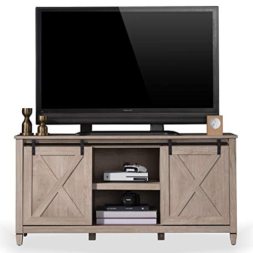 Sekey Home Sliding Barn Door Tv Stand | Entertainment Inside Farmhouse Sliding Barn Door Tv Stands For 70 Inch Flat Screen (View 6 of 20)