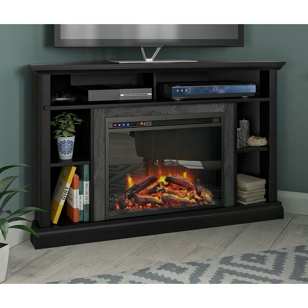 """Serbelloni Tv Stand For Tvs Up To 50"""" With Electric With Neilsen Tv Stands For Tvs Up To 50"""" With Fireplace Included (View 9 of 20)"""