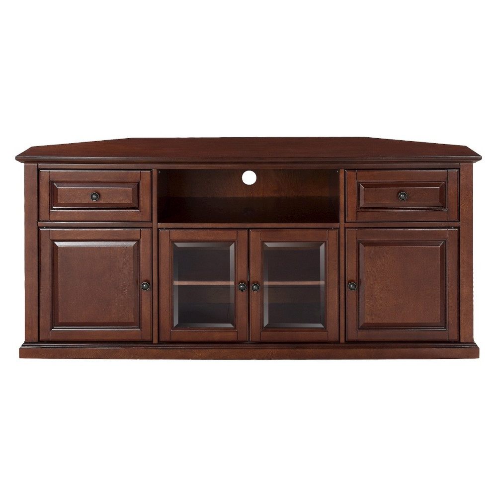 """Shelby Corner Tv Stand For Tvs Up To 60"""" Mahogany Intended For Corner Tv Stands For Tvs Up To 48"""" Mahogany (View 14 of 20)"""