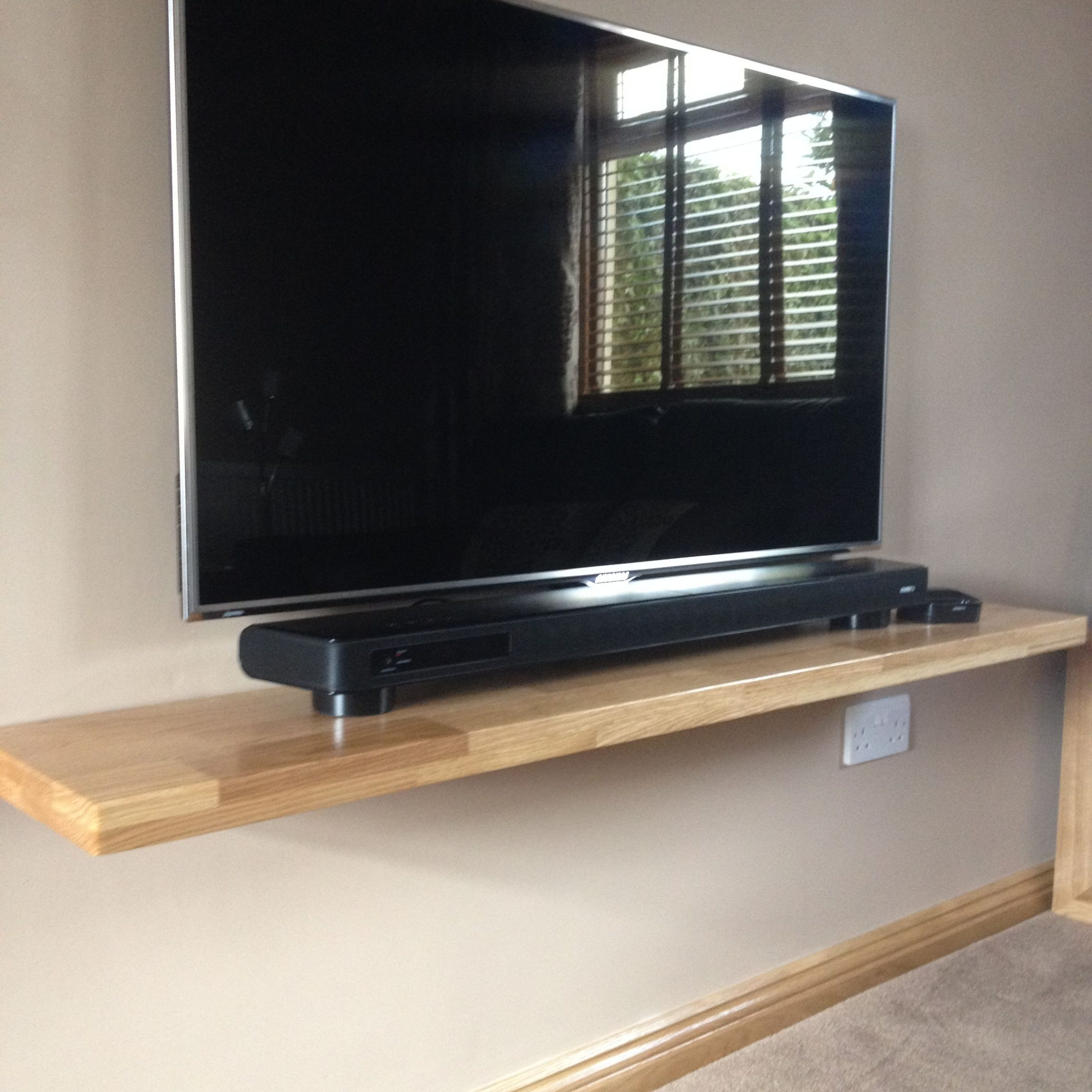 Shelf For Under Flat Screen Tv | Tyres2c With Regard To Horizontal Or Vertical Storage Shelf Tv Stands (View 13 of 20)