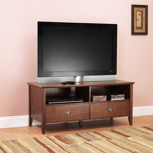 """Sheridan Tv Stand For Tvs Up To 50"""", Walnut – Walmart Intended For Leonid Tv Stands For Tvs Up To 50"""" (View 16 of 20)"""