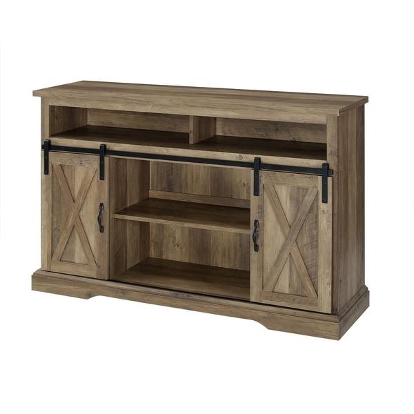 "Shop 52"" Modern Farmhouse Sliding Barn Cabinet Door Wood With Regard To Jaxpety 58"" Farmhouse Sliding Barn Door Tv Stands (View 18 of 20)"