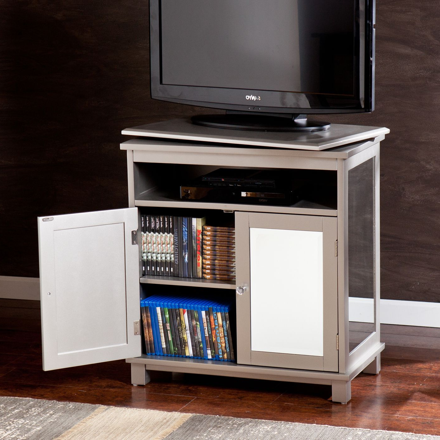Shop Boston Loft Furnishings Impression Swivel Top Media Intended For Boston Tv Stands (View 2 of 20)