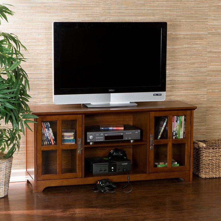 Shop Boston Loft Furnishings Remington Mission Oak For Boston Tv Stands (View 4 of 20)
