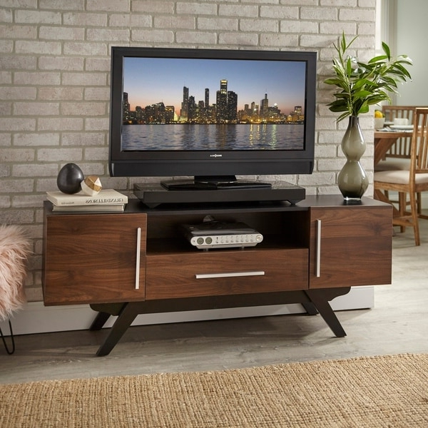 Shop Carson Carrington Arendal Mid Century Tv Stand – On In Carson Tv Stands In Black And Cherry (View 9 of 20)