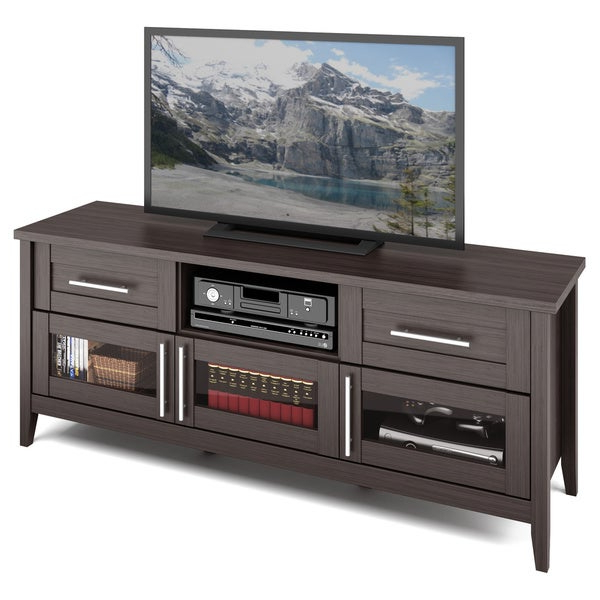 Shop Corliving Jackson Modern Wenge Finish Tv Bench For Martin Svensson Home Elegant Tv Stands In Multiple Finishes (View 1 of 20)
