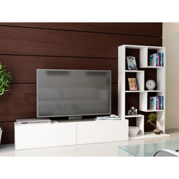 """Shop Decorotika Bari 86"""" Tv Stand – Entertainment Center Within Martin Svensson Home Elegant Tv Stands In Multiple Finishes (View 5 of 20)"""