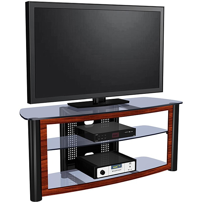 Shop Exp Entertainment 55 Inch Flat Panel Tv Stand – Free In Farmhouse Sliding Barn Door Tv Stands For 70 Inch Flat Screen (View 13 of 20)