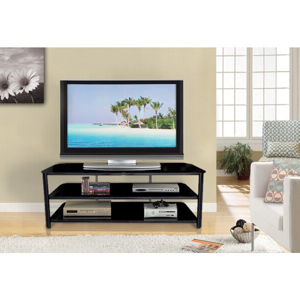 """Shop Innovex Stanford 55 Inch Black Tv Stand – Overstock Intended For Basie 2 Door Corner Tv Stands For Tvs Up To 55"""" (View 12 of 20)"""