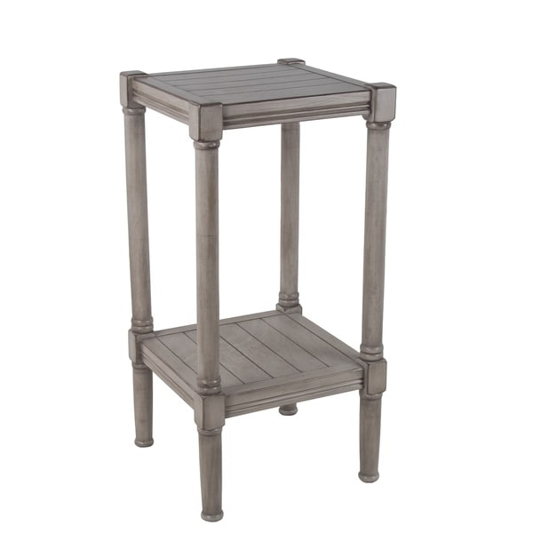 Shop Privilege Oyster Square Accent Table (View 9 of 20)