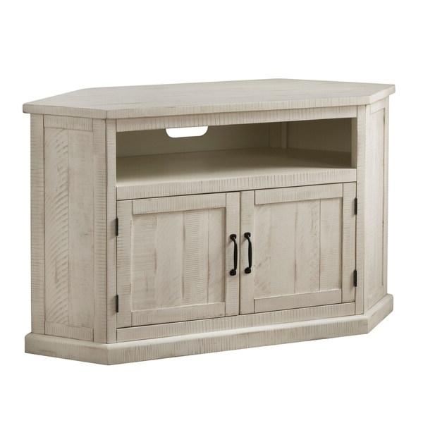 """Shop Rustic Style Wooden Corner Tv Stand With 2 Door Pertaining To Basie 2 Door Corner Tv Stands For Tvs Up To 55"""" (View 1 of 20)"""