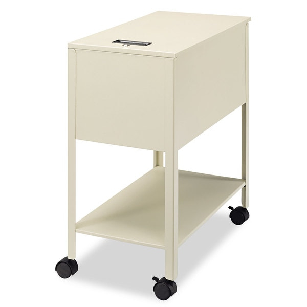 Shop Safco Extra Deep Locking Mobile Tub File 13 1/2 Inch Pertaining To Large Rolling Tv Stands On Wheels With Black Finish Metal Shelf (View 12 of 20)