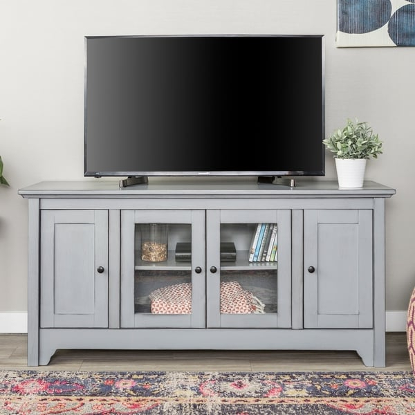 Shop The Gray Barn Estelle 52 Inch Wood Tv Media Stand Pertaining To Compton Ivory Extra Wide Tv Stands (View 12 of 20)