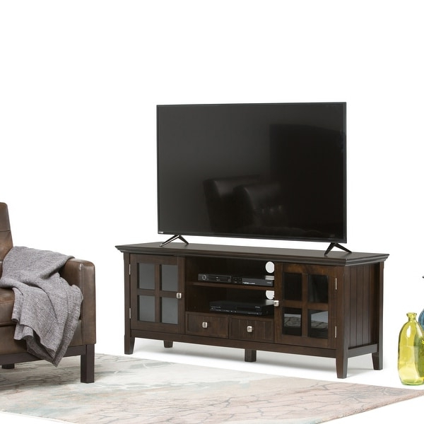 """Shop Wyndenhall Normandy Solid Wood 60 Inch Wide Rustic Tv With Solid Wood Tv Stands For Tvs Up To 65"""" (View 2 of 20)"""