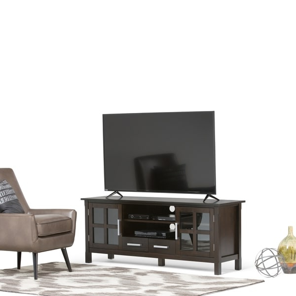 """Shop Wyndenhall Waterloo Solid Wood 60 Inch Wide For Solid Wood Tv Stands For Tvs Up To 65"""" (View 11 of 20)"""