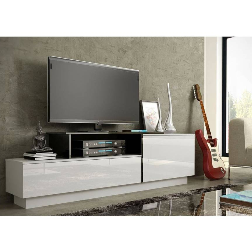 Sigma 180 Tv Storage–black Or White – Living Room Furniture In Casablanca Tv Stands (View 5 of 20)