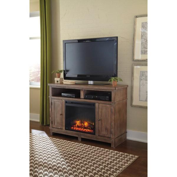 Signature Designashley Pinnadel Light Brown Medium Tv Within Jackson Corner Tv Stands (View 4 of 20)