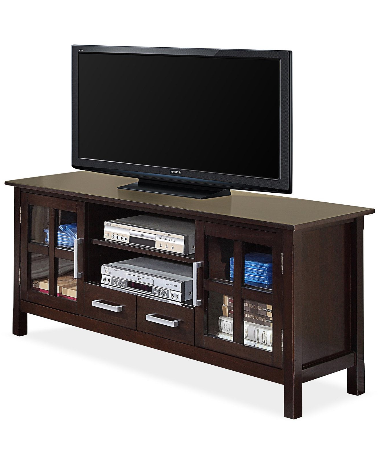 Simpli Home Rockville 60 Wide Tv Stand, Direct Ship – Tv For Indi Wide Tv Stands (View 1 of 20)