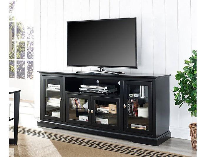 "Sites Artvan Site   Art Van Home   Highboy Tv Stand, Black Inside Vasari Corner Flat Panel Tv Stands For Tvs Up To 48"" Black (View 16 of 20)"