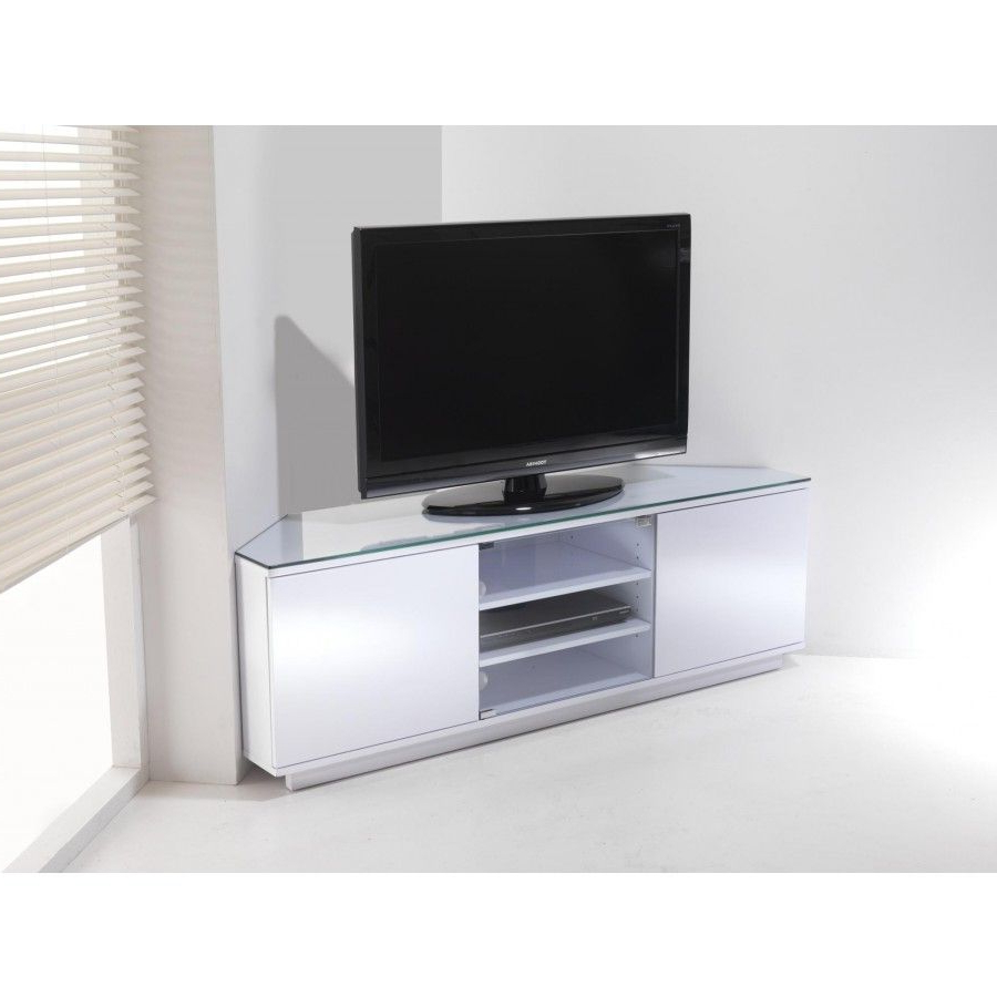 Small White Corner Tv Cabinet | Curved Tv Stand, Tv Stand Throughout Claudia Brass Effect Wide Tv Stands (View 4 of 20)