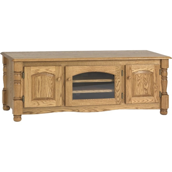"""Solid Oak Country Trend Tv Stand W/cabinet  60"""" – The Oak In 60"""" Corner Tv Stands Washed Oak (View 18 of 20)"""