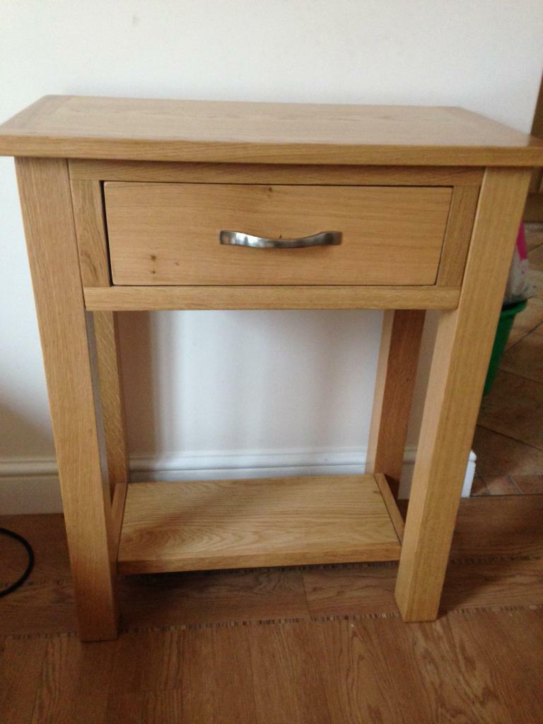 Solid Oak Telephone Table | In Saxmundham, Suffolk | Gumtree Intended For Sherbourne Oak Corner Tv Stands (View 16 of 20)