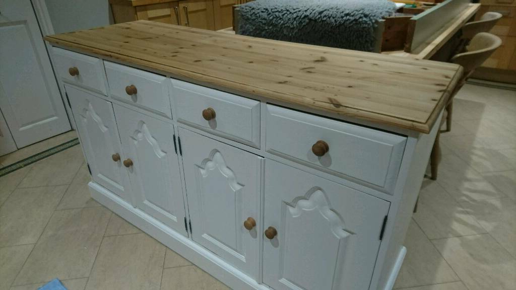 Solid Pine Farmhouse Sideboard | In Roundhay, West With Farmhouse Woven Paths Glass Door Tv Stands (View 14 of 20)