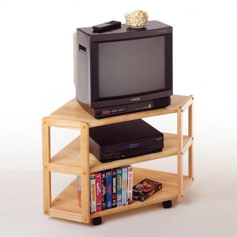 Solid Wood Corner Tv Stand In Beech – 83423 For Hex Corner Tv Stands (View 15 of 20)